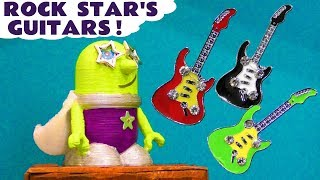 Learn Colors with Funny Funlings Rockstar Funling Guitars and Thomas Train with Surprise Eggs