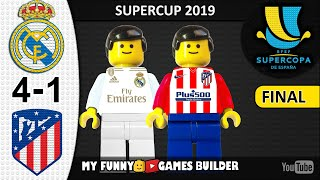 Supercopa de España • Real Madrid vs Atletico Madrid 0-0 (4-1) LEGO 🏆 Spanish Super Cup Final 2020