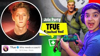 Asking Celebrities To Play Fortnite With Me Until One Responds! (PLAYING FORTNITE WITH TFUE!)