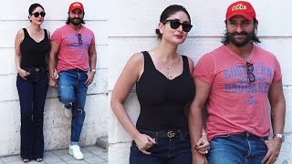 Kareena Kapoor Arrives With Hubby Saif Ali Khan At Rujuta Diwekar Office For Facebook Live