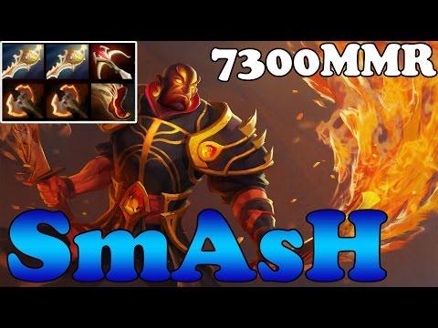 Dota 2 - SmAsH 7300 MMR Plays Ember Spirit vol 5 with 2 Divine rapiers - Pub Match Gameplay