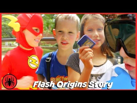 The Flash Origins Story w Playground Bully & Doctor Clariss real life movie comics SuperHero Kids
