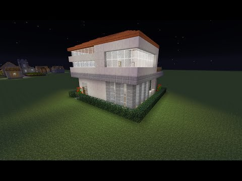 Minecraft Small House Build 16x16 Lot - Modern Style - Commentary HD