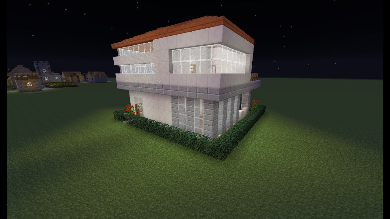 Minecraft small house build 16x16 lot modern style for What is needed to build a house