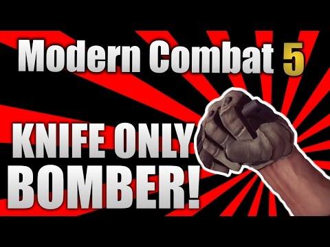 Modern Combat 5: Blackout - Challenge! #1 | knife Only Bomber! video