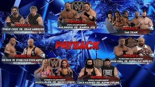wwe2k Universe mode I The Reality Era (Payback 2 PPV)