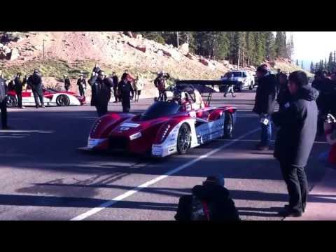 Matt Saunders' Pikes Peak video blog: Hiroshu Masuoka launches his Electric Class-leading Mitsubishi MiEV Evolution II off the line SUBSCRIBE to Autocar: htt...