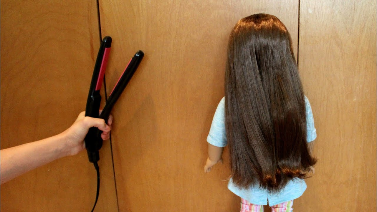How To Straighten Your Ag Doll S Hair Youtube