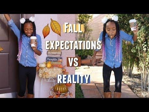 FALL EXPECTATIONS VS REALITY (FUNNY!) 2018 🍂 ! FALL 2018