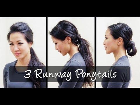 3 Runway Ponytail Looks
