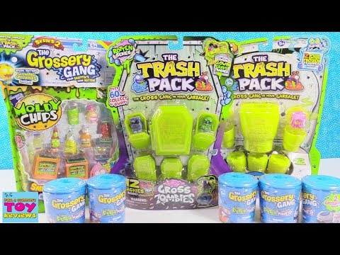 Trash Pack & Grossery Gang Palooza Blind Bag Toy Review Opening   PSToyReviews