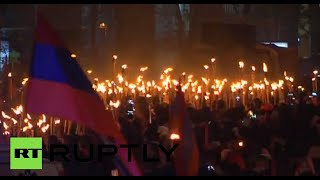 Torches light up Yerevan: 100yrs since Armenian genocide Image