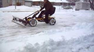 Human Powered Snow Plow 1A