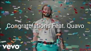 Congratulations- Post Malone Feat. Quavo Lyrics