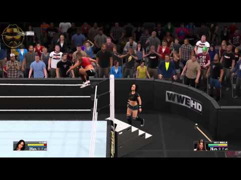 AJ Lee vs Nikki Bella for Divas Championship WWE 2k15