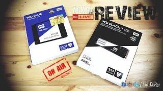รีวิว WD Black M.2 PCIe SSD (256GB) และ WD Blue PC SSD (250GB)  : ZoLKoRn on Live - EP#60