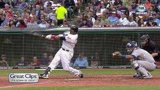 Santana puts Indians on the board with homer