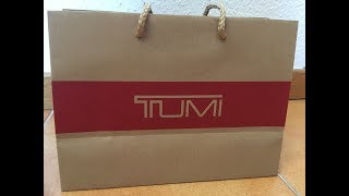 Unboxing TUMI Leather Wallet