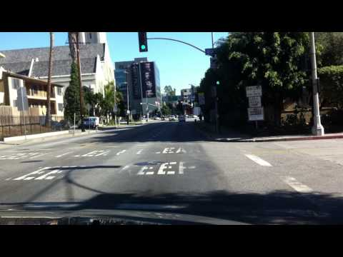 Driving Through Los Angeles, CA