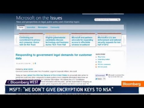 Microsoft: Doesn't Give NSA Secret Encryption Keys