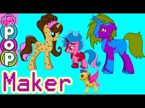 MLP POP My Little Pony Custom Maker 300K Subs Special Cookie Swirl Fluttershy Pinkie Pie Game Play
