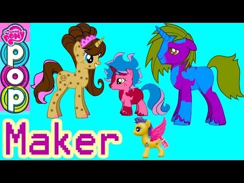 Mlp Pop My Little Pony Custom Maker 300k Subs Special Cookie Swirl Fluttershy Pinkie Pie Game Play video