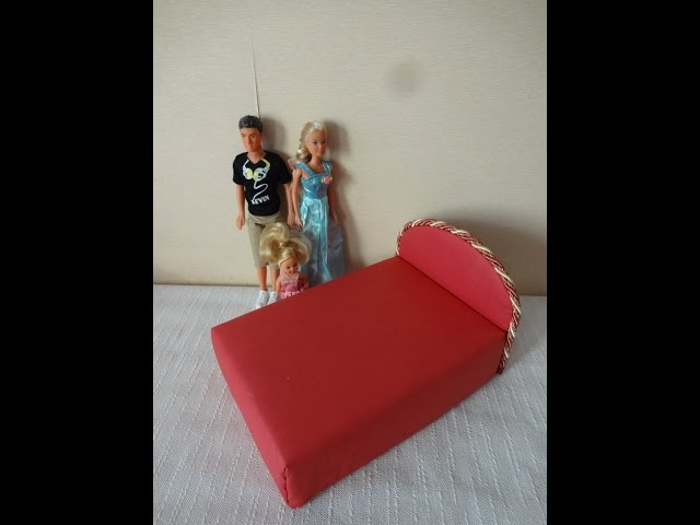 Как сделать кукле кровать для барби 239
