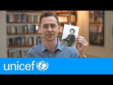 Tom Hiddleston shares his school photo | #EmergencyLessons | UNICEF