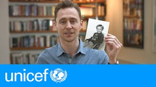 Tom Hiddleston shares his school photo | #EmergencyLessons | UNICEF