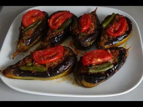 Фаршированные баклажаны по-турецки в духовке (Karnıyarık Yemegi)