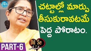 Child Rights Activist Padma Shri Awardee Dr. Shantha Sinha Interview - Part #6 | Dil Se With Anjali
