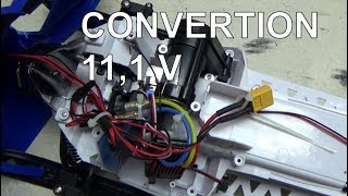 Yamaha rc snowmobile sr viper CONVERTION LIPO11.1 V,SERVO.