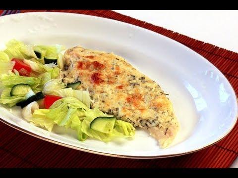 Tejszínes, fehérboros hal jégsalátával