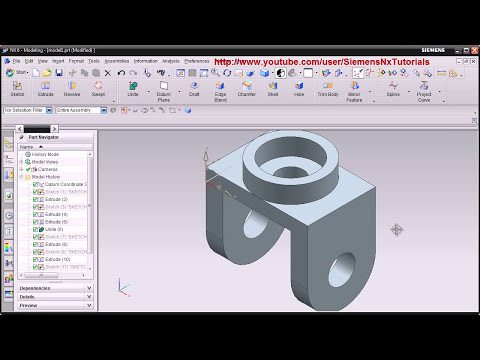 Siemens Nx CAD Basic Modeling Training Tutorial for Beginner - 1 | UG NX