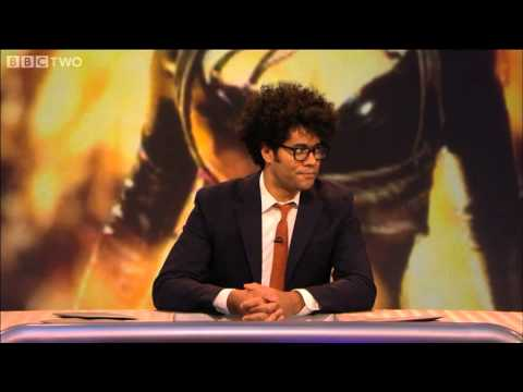 Host Richard Ayoade leads a game of 'Who do you think you are?' - Never Mind the Buzzcocks - BBC Two