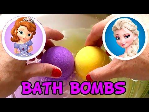 Disney Frozen Elsa & Princess Sofia The First Bath Bombs