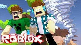 Roblox - O FURACÃO DESTRUIU MINHA CASA !! (Roblox Natural Disaster Survival)