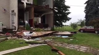 Storm damage: Front ripped off home in New Vienna, Ohio