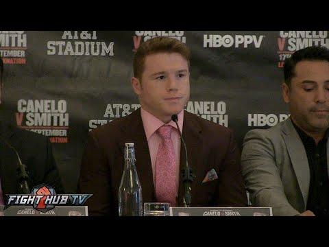 Canelo Alvarez vs Liam Smith London Press Conference highlights- Canelo vs Smith video