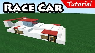 How to make Race / Sport Car - Minecraft vehicle tutorial