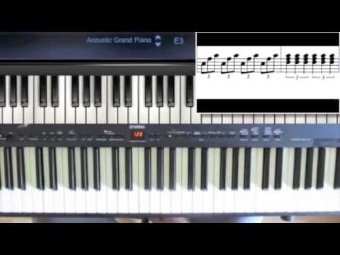 (how to play) Downton Abbey theme tune piano lesson