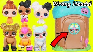 LOL Surprise Dolls get Custom Wrong Heads + Pet Animals