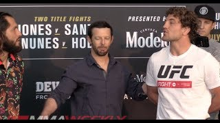 Jorge Masvidal Addresses Ben Askren Confrontation at Face-Offs  (UFC 239 Media Day)