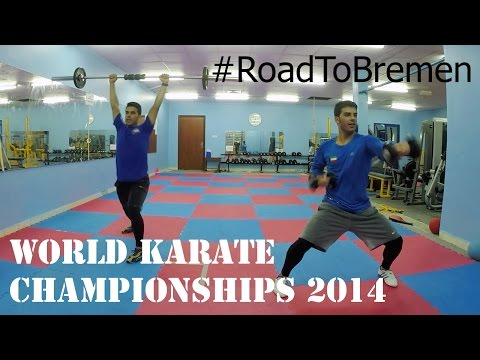 #RoadToBremen | Salman and Mohamed AL MOSAWI getting ready for the 2014 World Karate Championships