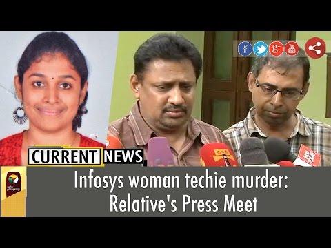 Infosys woman techie murder: Relative's Press Meet