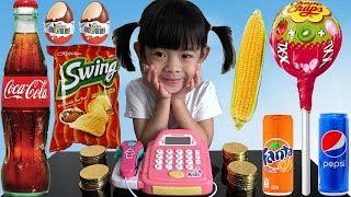 Trò Chơi Bé Tập Bán Hàng – Đồ Chơi Máy Tính Tiền Siêu Thị ❤ AnAn ToysReview TV ❤