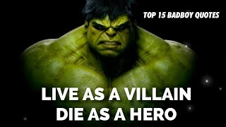15 BADBOY BADASS&POWERFUL QUOTES! YOU HAVE NEVER SEEN BEFORE!