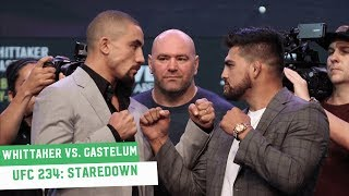 Robert Whittaker vs. Kelvin Gastelum Staredown | UFC 234 Press Conference