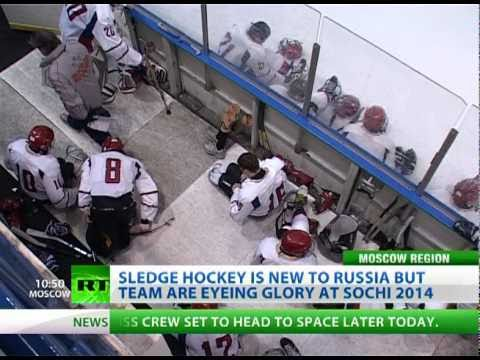Russia's paralympic team are busy adjusting to a new sport. Sledge hockey appeared in the country just 12 months ago, but the squad are already aiming for a podium place at the 2014 Sochi Paralympi...