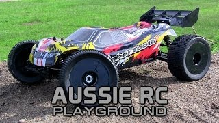 First running video Basher SaberTooth 1/8 Scale Truggy